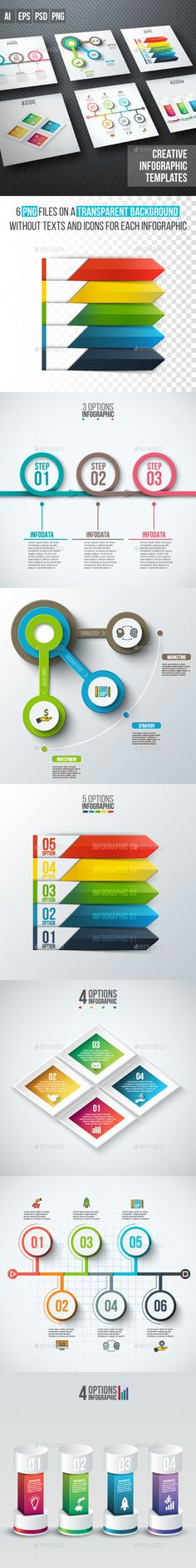 Business Infographic Diagrams Templates PSD, Transparent PNG, Vector EPS, AI Illustrator