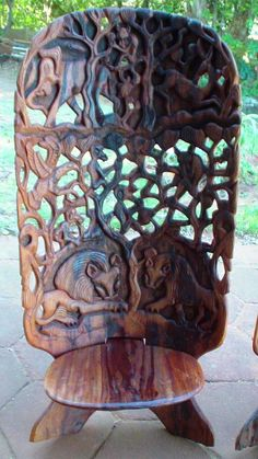 Hand Carved African Chairs http://www.bidorbuy.co.za/item/154951794/Hand_Carved_African_Chairs.html