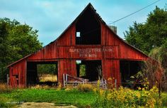 old red barns - Google Search