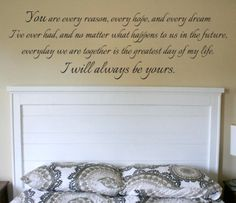 Wall Vinyl Quote  I Will Always Be Yours Quote from by aubreyheath, $32.00