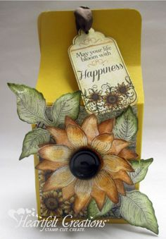 Get inspired in the Heartfelt Creations Project Gallery. Free scrapbook layouts, altered art projects and more with instructions. Card Making Tutorials, Making Ideas, Card Tags, I Card, Gift Tags, Sunflower Cards, Heartfelt Creations Cards, Gable Boxes, Birthday Cards For Women