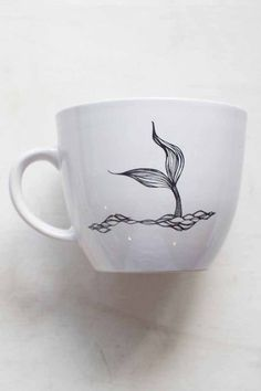 Mermaid Tail Mug in White