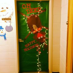 reindeer door decor