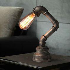 Aliexpress.com: Comprar Industrial retro las tuberías de agua de mesa creativa lámpara de escritorio dormitorio lectura cafe tienda bar oficina vintage art deco iluminación fontanería de luz de los molinos fiable proveedores en QG-DECO