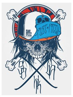 Sweet Skull in Trucker Hat w/ Crossbones