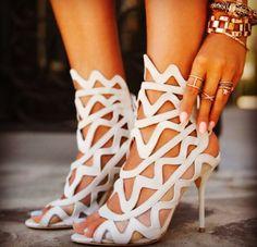Sophia Webster white shoes