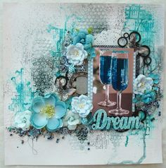 What are a few of my FAVorite things?? Texture, color and dimension!!! Reneabouquets Artist~Phyllis Fernandez has captured all 3 with this gorgeous, mixed media layout. Items used from the Reneabouquets Shops: RB Tiny Treasures Oh So Shabby Chic Butterflies Prima Vintage Metal Clock Face RB Shard Glitter Glass Mermaid,RB Glass MicroBeads Silver,  RB Chunky Glitter Glass Patina  You can shop for your FAVorite things here: Reneabouquets.com or here: http://www.Etsy.com/shop/Reneabouquets