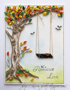contour-Trees are one of my favorite quilling subjects-beautiful, beautiful tree. Helen P-CreaQuill Neli Quilling, Paper Quilling Patterns, Quilled Paper Art, Quilling Paper Craft, Diy Paper, Paper Crafts, Quilling Ideas, Quilled Roses, Quilling Comb