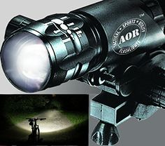 AOR Flashlights AR144 Bright Bicycle Headlight  Best Bike Headlight and Tail Light set Bike Light Set  High Quality Front Mount Bicycle Headlight and Taillight Front Bicycle Headlight and Taillight 3 Modes 150  50 Lumen Strobe Fits Street Mountain or Childrens Bikes  Aircraft Aluminum  Waterproof  Quick Mount Bike Light Set Front and Back Black *** Want additional info? Click on the image. Note: It's an affiliate link to Amazon