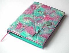 Notebook, Sketchbook, Journal, Diary Cover, A5, Handmade Felt, 'Blossom' £35.00