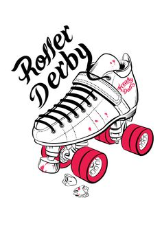 "Illustration created for ""Freaky Dolls"" a Roller Derby team"