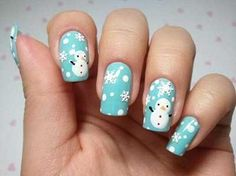 Snow fall nail art Holiday Nail Art To Have Your Holiday Season Amazing