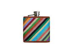 Parsons Stripe Needlepoint Flask | Smathers & Branson