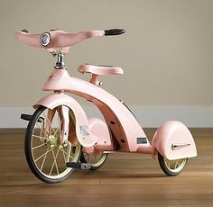 Sky King Junior Tricycle in Petal - From Restoration Hardware Baby & Kids. Little Babies, Little Girls, Baby Kids, My Baby Girl, Baby Love, Rh Baby, Restoration Hardware Baby, Everything Pink, King Jr