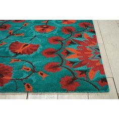 """Nourison Suzani SUZ02 Hand-tufted Area Rug - On Sale - Overstock - 7599401 - 2'3"""" x 8' Runner - Teal Teal Rug, Teal Area Rug, Area Rugs For Sale, Brown Furniture, Wool Runners, Home Decor Trends, Online Home Decor Stores, Persian Rug, Oriental Rug"""