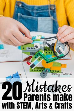 These 20 mistakes parents make with arts, crafts, and STEM activities are easily correctable and, frankly, part of why parents hate doing these activities. Stem Projects, Diy Craft Projects, Craft Ideas, Steam Activities, Sensory Activities, Diy Arts And Crafts, Crafts For Kids, Do It Yourself Organization, How To Start Homeschooling