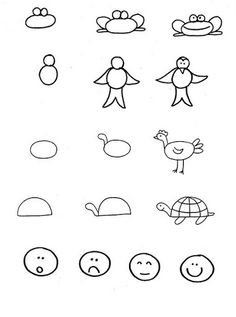 Pedagógiccos: DESENHO: ensinando alguns desenhos simples para os seus alunos