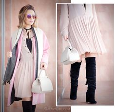 Be inspired for chic outfit ideas for your everyday life! Nude dresses, blush pink coat and some other spring trends to upgrade your style!