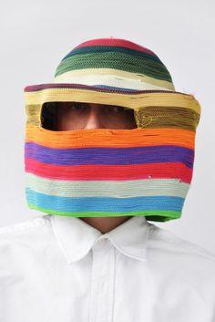 Studio Bertjan Pot Textiles, Arte Popular, Headgear, In A Heartbeat, Headdress, Wearable Art, Fascinator, Fiber Art, Knitted Hats
