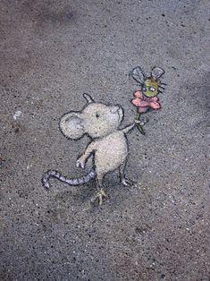Image result for david zinn street art mouse