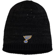 d4da2f5ee1f Women s St. Louis Blues adidas Black Sequin Knit Beanie