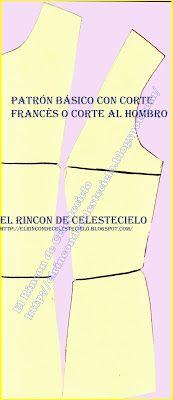 Colocar aplomos al patrón de blusa con corte francés