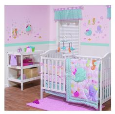 Ocean Crib Bedding Set Baby Under the Sea Nursery Octopus SeaHorse StarFish PINK #Unbranded
