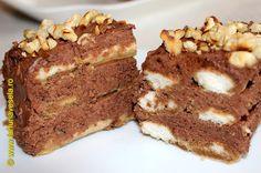 Farfuria vesela: Prajitura cu piscoturi si mousse de ciocolata