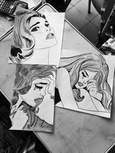 Find images and videos about black, art and drawing on We Heart It - the app to get lost in what you love. Pop Art, Illustrations, Illustration Art, Photo Humour, Street Art, Comic Manga, Art Hoe, Sketch Painting, Cool Drawings