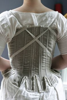 Stay-ing Alive: New Attitudes about Old Clothes: A Pair of Summer Stays, or, Why I Wear a Neck Handkerchief. 18th Century Stays, 18th Century Dress, 18th Century Costume, 18th Century Clothing, 18th Century Fashion, 19th Century, Rococo Fashion, Victorian Fashion, Antique Clothing