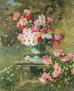Box 4 – NR19 Peonies and Roses the printed panel and lessons   Di van Niekerk