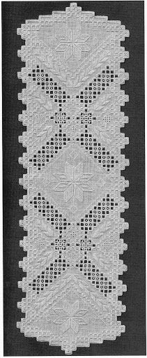 Hardanger, how beautiful is this runner. Hardanger Embroidery, Cross Stitch Embroidery, Hand Embroidery, Fabric Patterns, Embroidery Patterns, Drawn Thread, Brazilian Embroidery, Satin Stitch, Fabric Manipulation