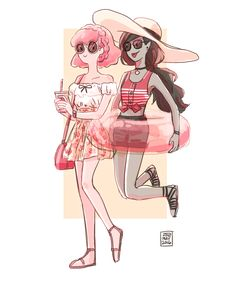 adventure time | marceline x princess bubblegum | bubbline