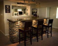 Low-budget basement bar ideas 10