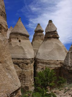 Looking like upside down ice cream cones, the teepee-like rock formations of the Kasha-Katuwe Tent Rocks National Monument are truly remarkable and unique!