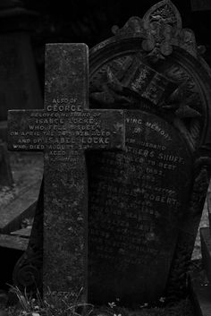 black - gravestones at Highgate cemetery ~ I love old cemetaries