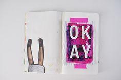 Art Journaling with Scrapbook Supplies • Caylee Grey