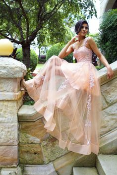 Princess Pink Long Prom Dress with Lace Appliques by Dresses Pink Bridesmaid Dresses Long, Prom Dresses 2017, A Line Prom Dresses, Prom Party Dresses, Sexy Dresses, Evening Dresses, Graduation Dresses, Dress Prom, Wedding Dresses