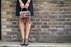 Floral mini bag.