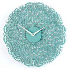 Turquoise clock // Moroccan decor // Turquoise by clockshopping