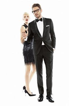 Black Tie Affair: BOSS Black 'Sky/Gala' Trim Fit Wool Tuxedo #Nordstrom #Men #Holiday