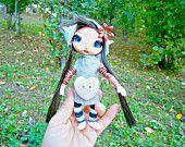 Ooak posable 6 inches fairy fairie miniature clay doll