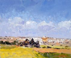 View of Mgarr I Oil paint  51cm by 41cm unframed  SOLD framed http://www.christinexart.com/artist/anthony-weitz