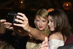 Its selfie time! Taylor Swift and actress Hailee Steinfeld pose for a picture at the Romeo And Juliet after-party on Sept. 24 in Hollywood, Calif.