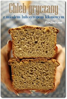 Bread with buckwheat - Buckwheat bread Buckwheat Bread, Pi A, Sunday Breakfast, Banana Bread, Sweet Tooth, Food And Drink, Gluten Free, Cooking, Healthy