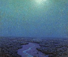 Moonlight On The Marsh Artwork By Granville Redmond Oil Painting & Art Prints On Canvas For Sale Moon Painting, Light Painting, Nocturne, Deaf Art, Classical Realism, American Impressionism, Classic Paintings, Painting Gallery, Buy Paintings