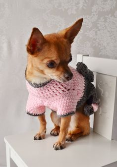 The Oxford Crochet Dog Sweater/Girl Version