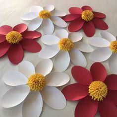 Pared de flor de Margarita juego de 7 Paper por SydneyPaperFlowers