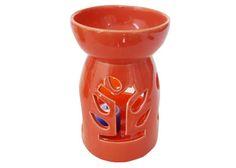 Very Pretty Orange Ecoya simple and stylish Ceramic Oil Burner.