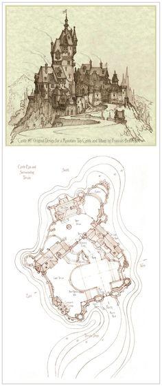Castle and Village Number One by Built4ever.deviantart.com